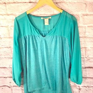 American Rag teal blue pullover.
